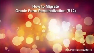Video 11. How to Migrate Oracle Form Personalization using FNDLOAD (R12) - Oracle ERP Apps Guide download MP3, 3GP, MP4, WEBM, AVI, FLV Januari 2018