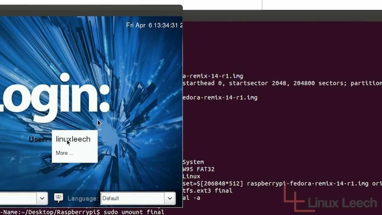 Raspberry pi Fedora remix running in Qemu - YouTube