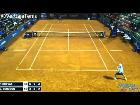 Carlos Berlocq vs. Pablo Cuevas- Punto del partido en el Uruguay Open
