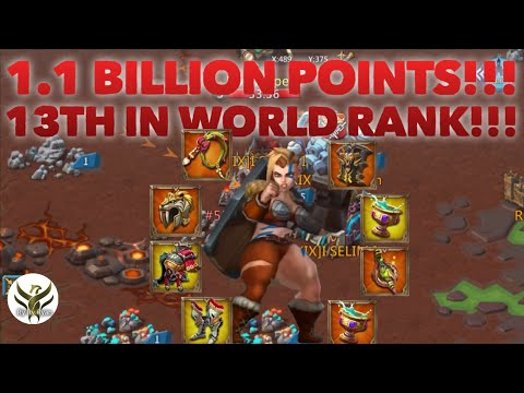 KvK 1.1 BILLION POINTS RANK 13 GLOBALLY Lords Mobile