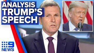 Chris Uhlmann analyses Trump's 'totalitarian' address | 9 News Australia