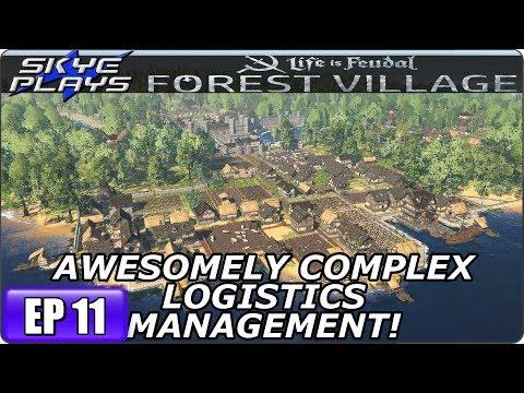 Life Is Feudal Forest Village - Building A Huge City & Castle Ep 11 - COMPLEX LOGISTICS MANAGEMENT!