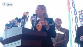 """بالفيديو : سها سليمان أمين عام الصندوق الاجتماعي """" نمول جميع المشروعات ليس فقد الصدي والمراكب """""""