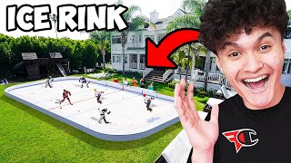 Download I Turned My Backyard into an Ice Rink - FaZe House Mp3 and Videos