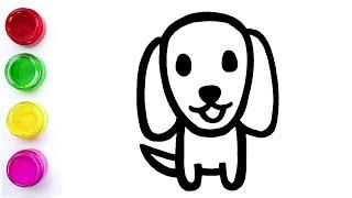 教你簡易繪圖畫小狗 What Does A Migru Look Like How to Draw A Puppy???? Easy Drawing for kids and parents