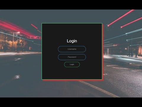 How To Make Animated Login Page    #HTML & #CSS    English & Hindi