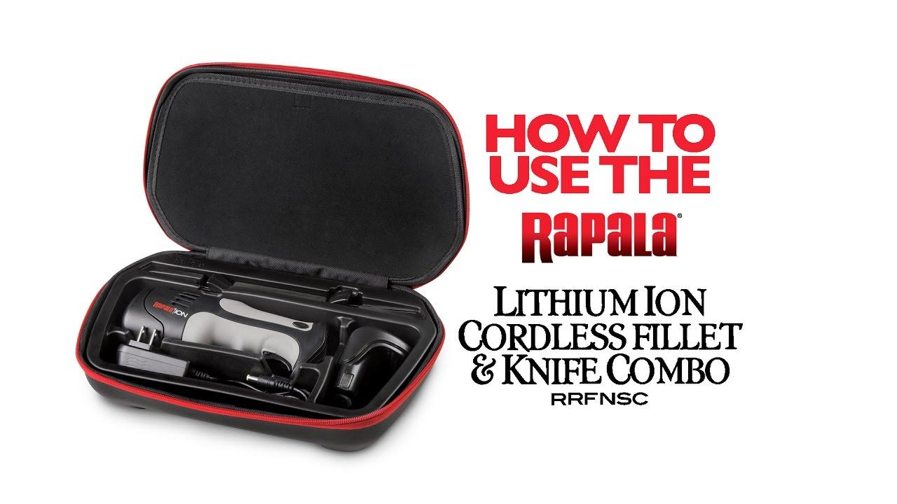 Rapala 174 Lithium Ion Cordless Fillet Knife Combo Youtube