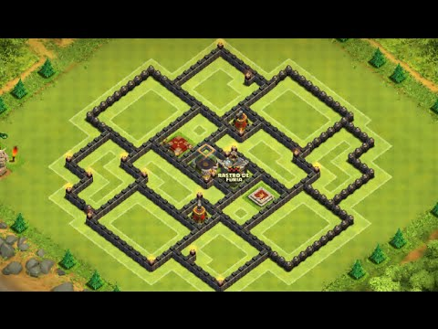 Clash Of Clans - Layout Town Hall 9 (TH9) Farming base...With 2 Air Sweeper