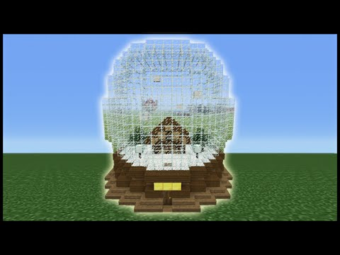 Minecraft Tutorial: How To Make A SnowGlobe House