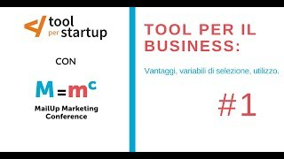 MailUp Marketing Conference - video 1/3 Cosa è un tool e a cosa serve