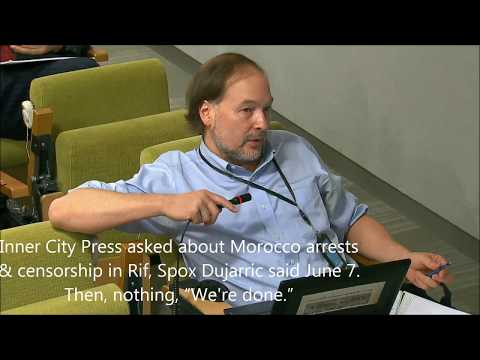 "ICP asked of Morocco arrests & censorship in Rif, Spox said June 7. Then, nothing, ""We're done."""