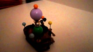 Alien Solar System Orrery Upcycled Materials