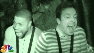 Repeat youtube video Jimmy and Kevin Hart Visit a Haunted House