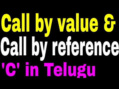 Call by value & Call by reference in C Language in Telugu