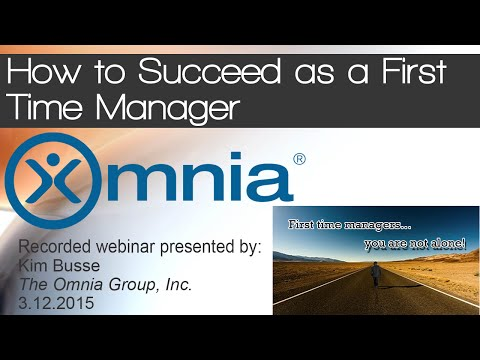 How to Succeed as a First Time Manager