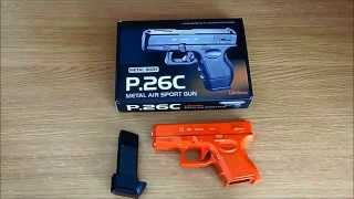 Unboxing and shooting of P.26C BB Gun