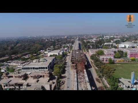 construction of Orange Line Metro Train lahore, Pakistan  by Habib Construction Services limited