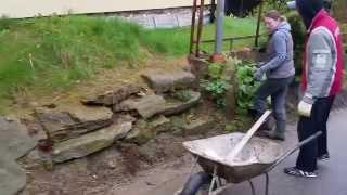 kamenna zed na sucho před opravou