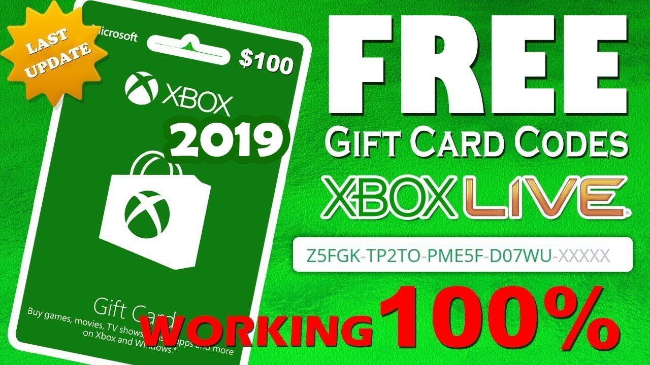 Carte Cadeau Xbox One Gratuit 2019.Xbox Free Gift Cards Free Xbox Live Codes Just Update 2019