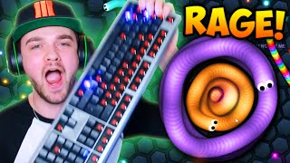 SLITHER.IO RAGE!!! (BROKEN KEYBOARD)