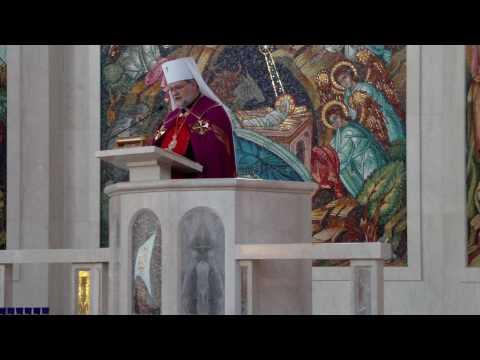Shroud of Turin Replica at Ukrainian Cathedral - Metropolitan-Archbishop Stefan Soroka's Homily