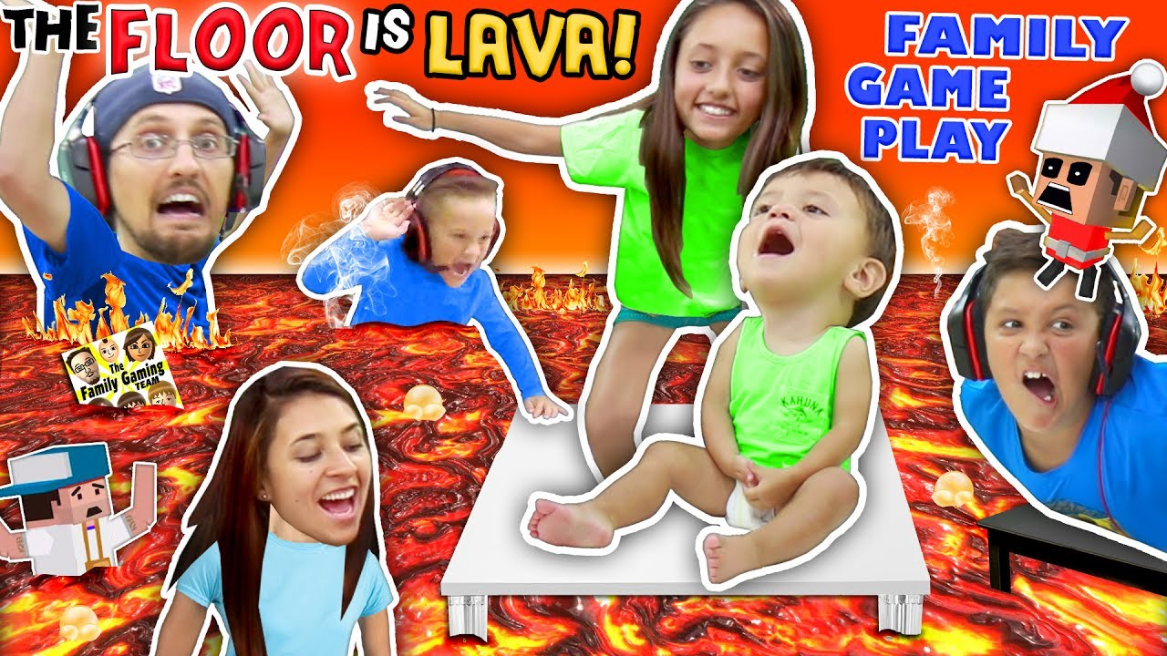 Floor Is Actually Lava Cuz We Ain T Lazy Youtubers Oh