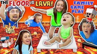FLOOR IS ACTUALLY LAVA CUZ WE AINT LAZY YOUTUBERS! Oh, BURN! FGTEEV Family Game Challenge Pool Day