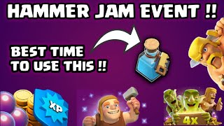 HAMMER JAM EVENT -BEST TIME TO USE BUILDER POTION😎||TIME TO BOOST UR UPGRADING😁||CLASH OF CLANS