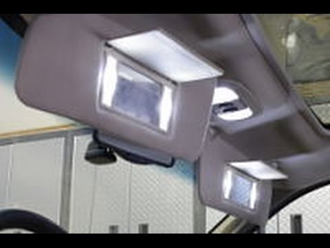 HOW TO INSTALL F150 04-08 VANITY MIRROR LED LIGHTS F150LEDS.COM - YouTube