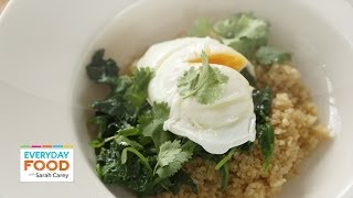 Sauteed Spinach With Poached Eggs - Everyday Food With Sarah Carey