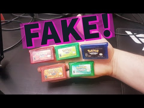 I Bought FAKE Pokemon Games Off Ebay! GBA SP