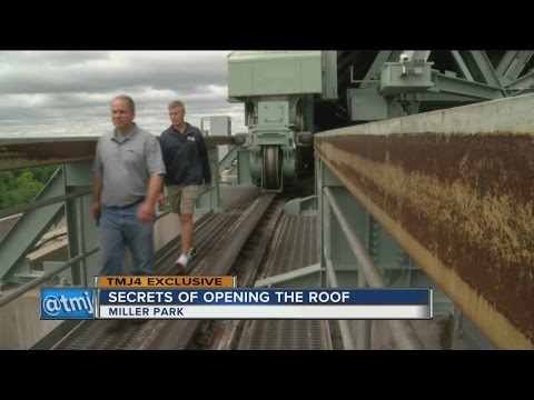 Behind-the-scenes look at opening Miller Park's roof