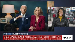 President-elect Biden urges Americans to stay safe over holidays