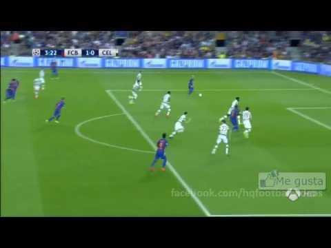 Gol messi 1-0 | fc barcelona vs Celtic Ver online champions