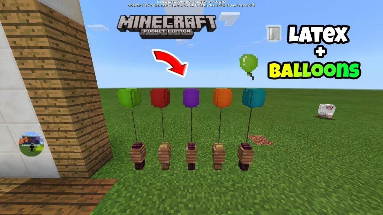 [MCPE]How to make Latex and Balloons !! ( EDUCATION EDITION / CHEMISTRY  UPDATE )