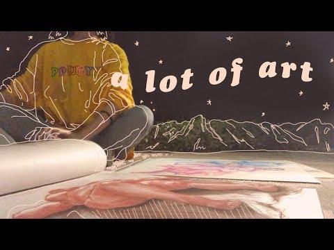 WORKING ON MY ART PORTFOLIO // vlog.01