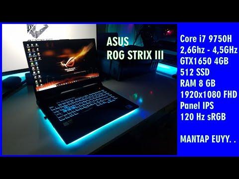 Unboxing Asus ROG STRIX III G531GT i7 9750H 512 SSD GTX1650 4GB RAM 8GB