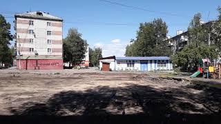 Чегдомын, сняли старое покрытие центральной площади