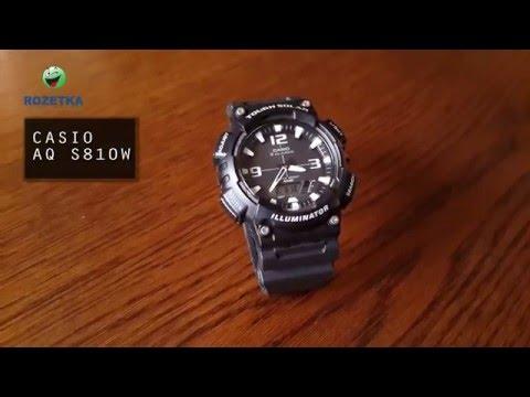 Чоловічий годинник CASIO AQ-S810W-1AVEF