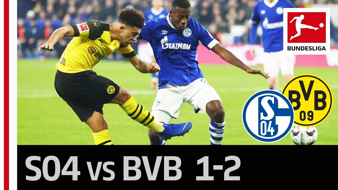 Schalke 04 Vs Borussia Dortmund I 1 2 I Highlights I Jadon Sancho Becomes The Revierderby Hero Youtube