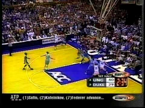 02/01/2001:  #4 North Carolina Tar Heels at #2 Duke Blue Devils