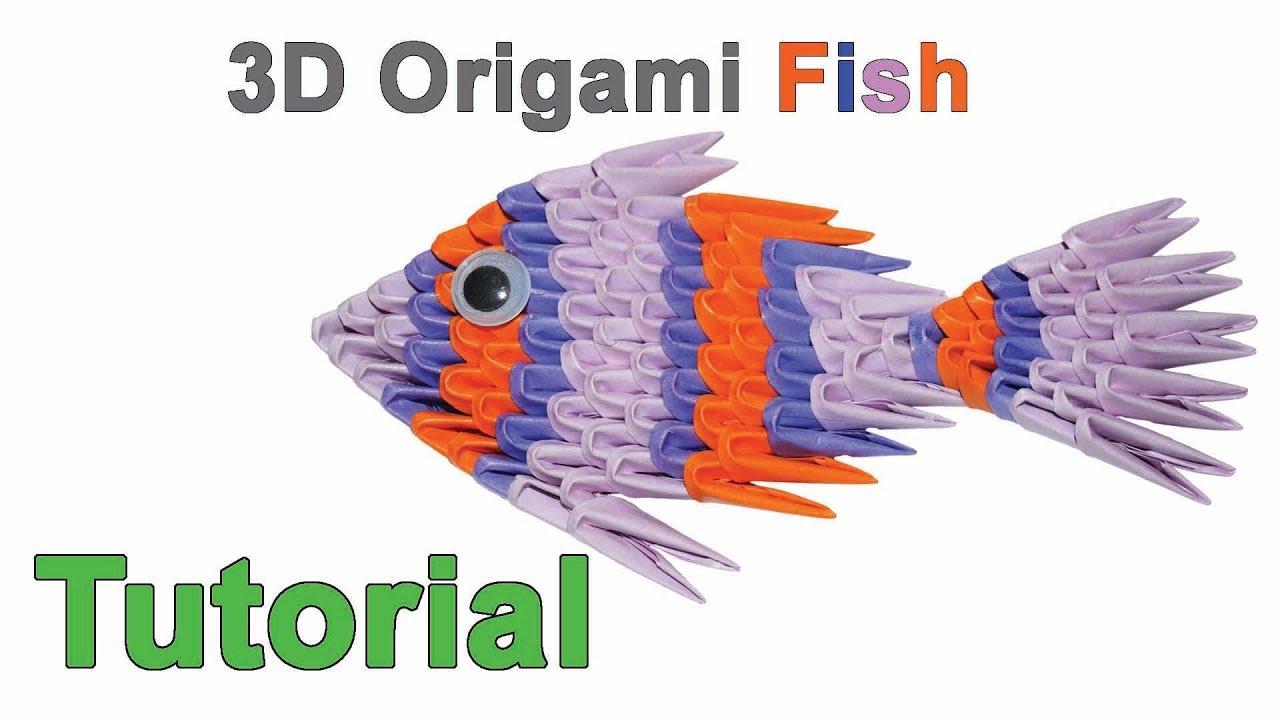 Origami 3d Fish Tutorial 132 Origami 3d Pesce Tutorial Youtube