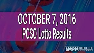 PCSO Lotto Results October 7, 2016 (6/58, 6/45, 4D, Swertres & EZ2)