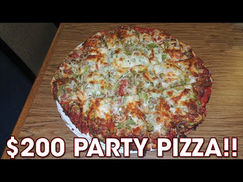 $200 Party Pizza Challenge w/ 8 TOPPINGS!!