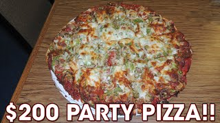 $200 Party Pizza 7LB Challenge @ B&C Pizza w/ 8 TOPPINGS!!
