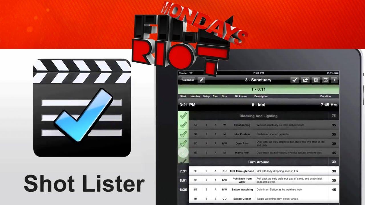 Mondays: Shot Lister App!