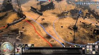 Company of Heroes 2 Gameplay: Sandbag Strat | 2v2 on Moscow Outskirts