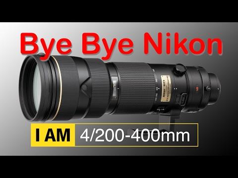 Bye Bye Nikon AF-S ED VR 4/200-400mm - Mein Teleobjektiv ist zu groß und zu schwer...