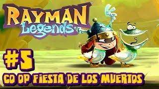 Rayman Legends Wii U - (2048p) Co Op - Part 5 Fiesta De Los Muertos