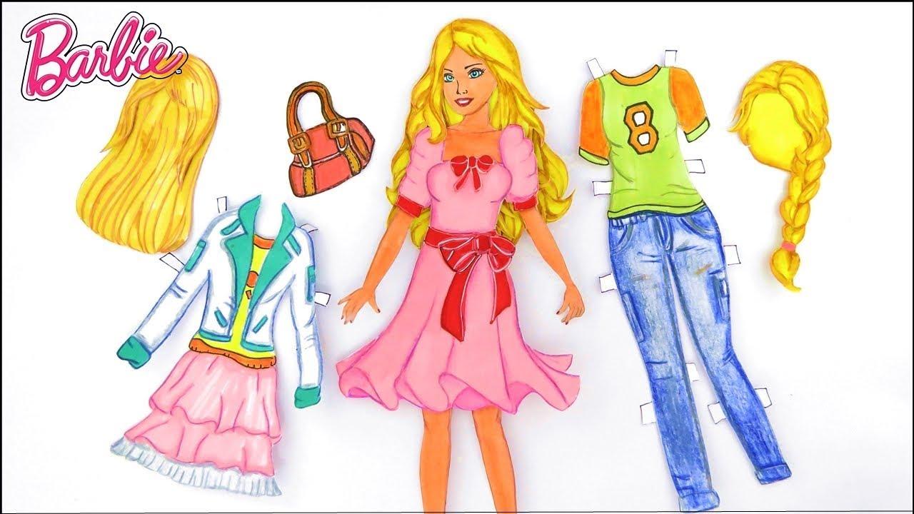 Como Fazer Uma Barbie De Papel Como Fazer Roupas De Papel Para
